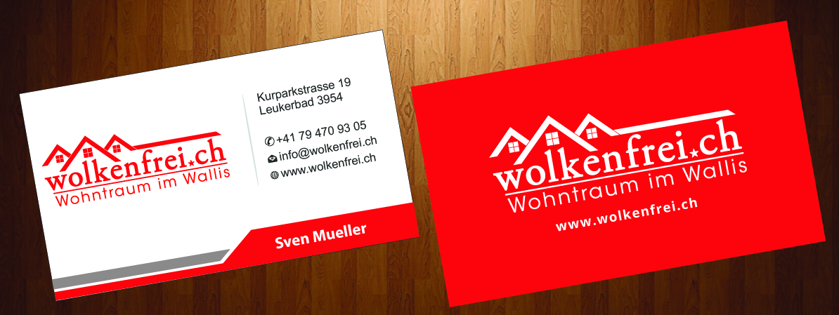 Modern professional business card design for wolkenfrei by business card design by harmi199 for wolkenfrei design 4248299 reheart Image collections