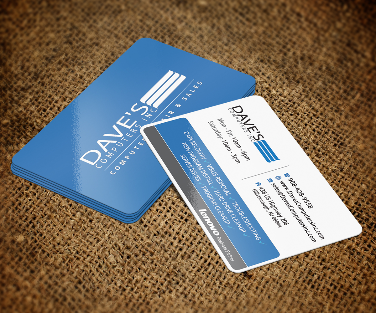 Business Card Template Computer Repair Gallery - Card Design And ...