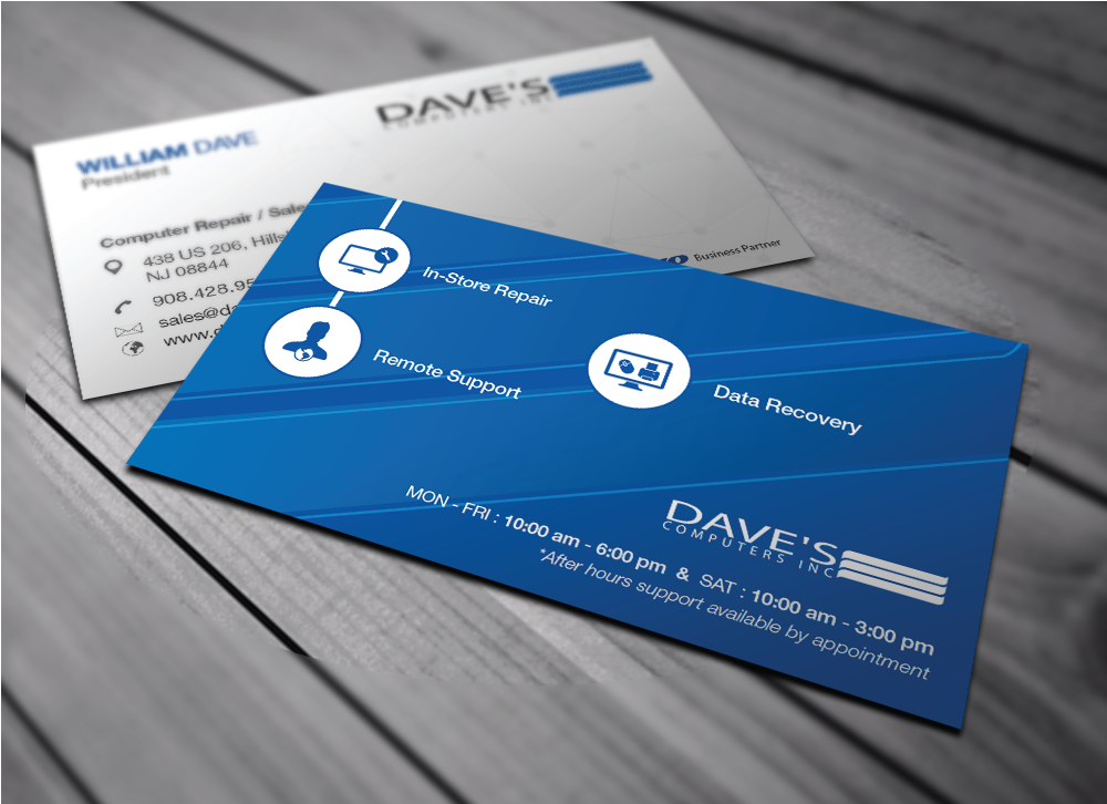 Business Card Design for David Molnar by Mohammad™ | Design #4278331