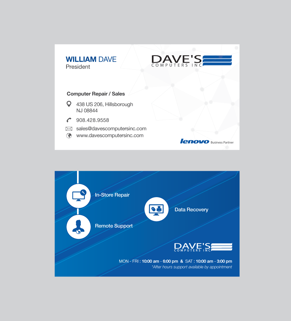 Business Business Card Design for David Molnar by Mohammad™ | Design ...