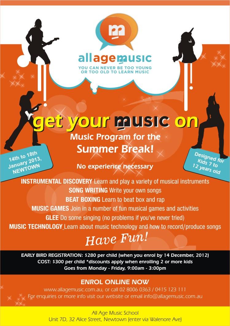 Poster design program - Poster Design By Sanjeev For Design To Promote School Holiday Music Program For Kids Design