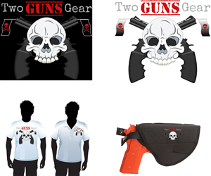 Logo Design for Two Guns Gear by TwistedSocialDesigns