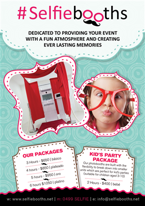 Flyer Design by Mila@CreativeMotions - #Selfiebooths Photobooth Flyer Design