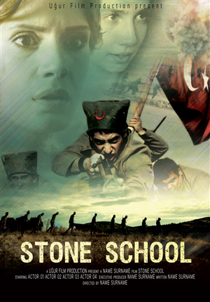 Poster Design by sabros - Movie Poster for a War Drama Movie - STONE SCHOOL