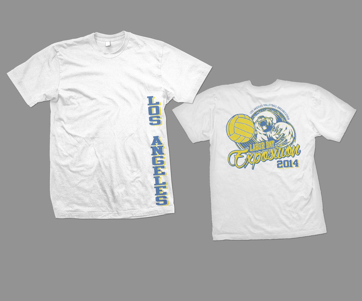 Bold Professional Labor T Shirt Design For Los Angeles Volleyball