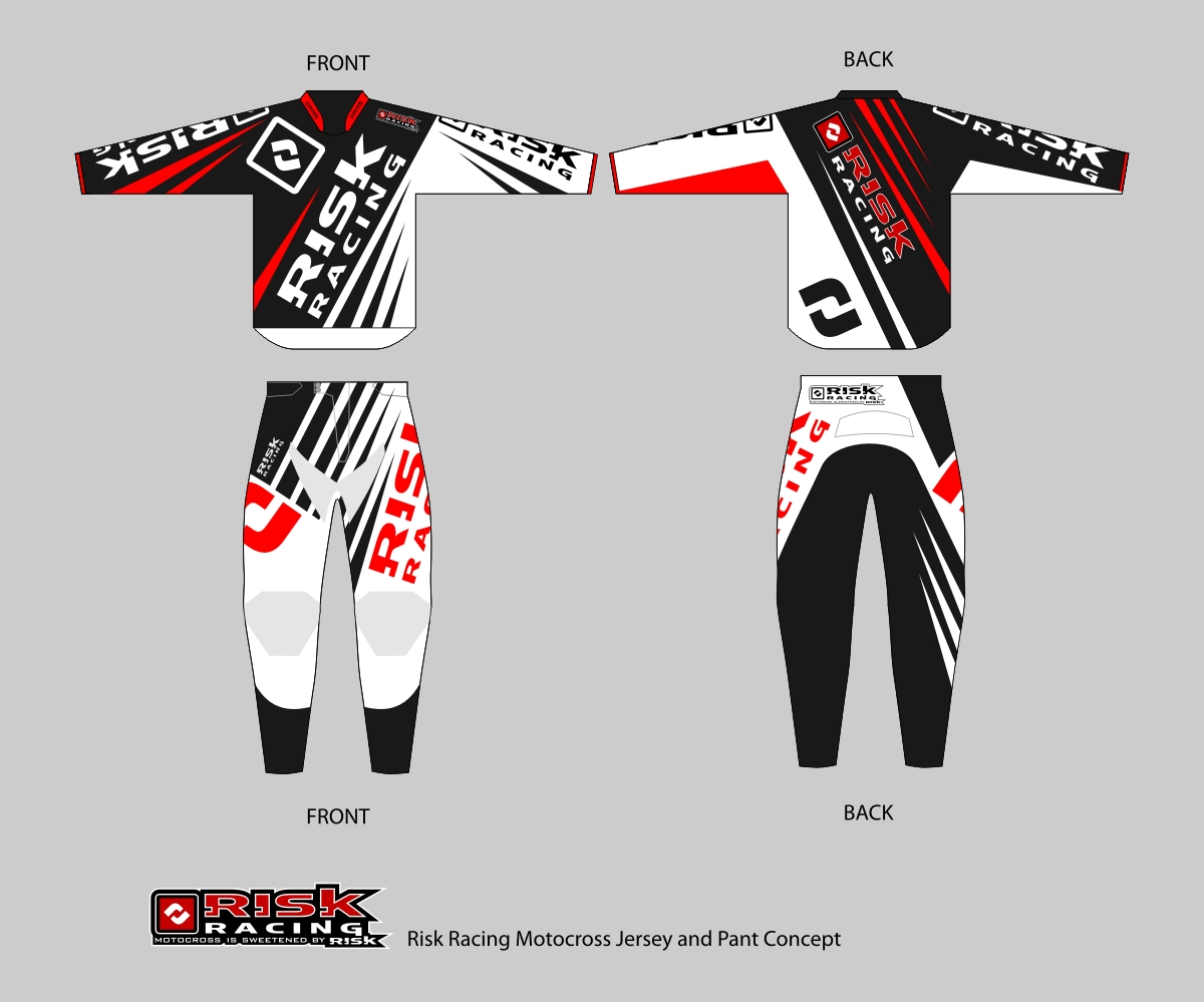 t shirt design by dinasty for motocross jersey and pant design for risk racing - Racing T Shirt Design Ideas