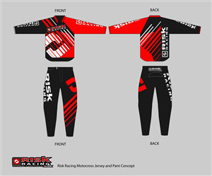 T-shirt Design by Dinasti - Motocross jersey and pant design for Risk Racing