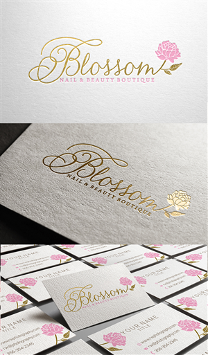 Elegant Feminine Beauty Salon Logo Design By Merry Elle