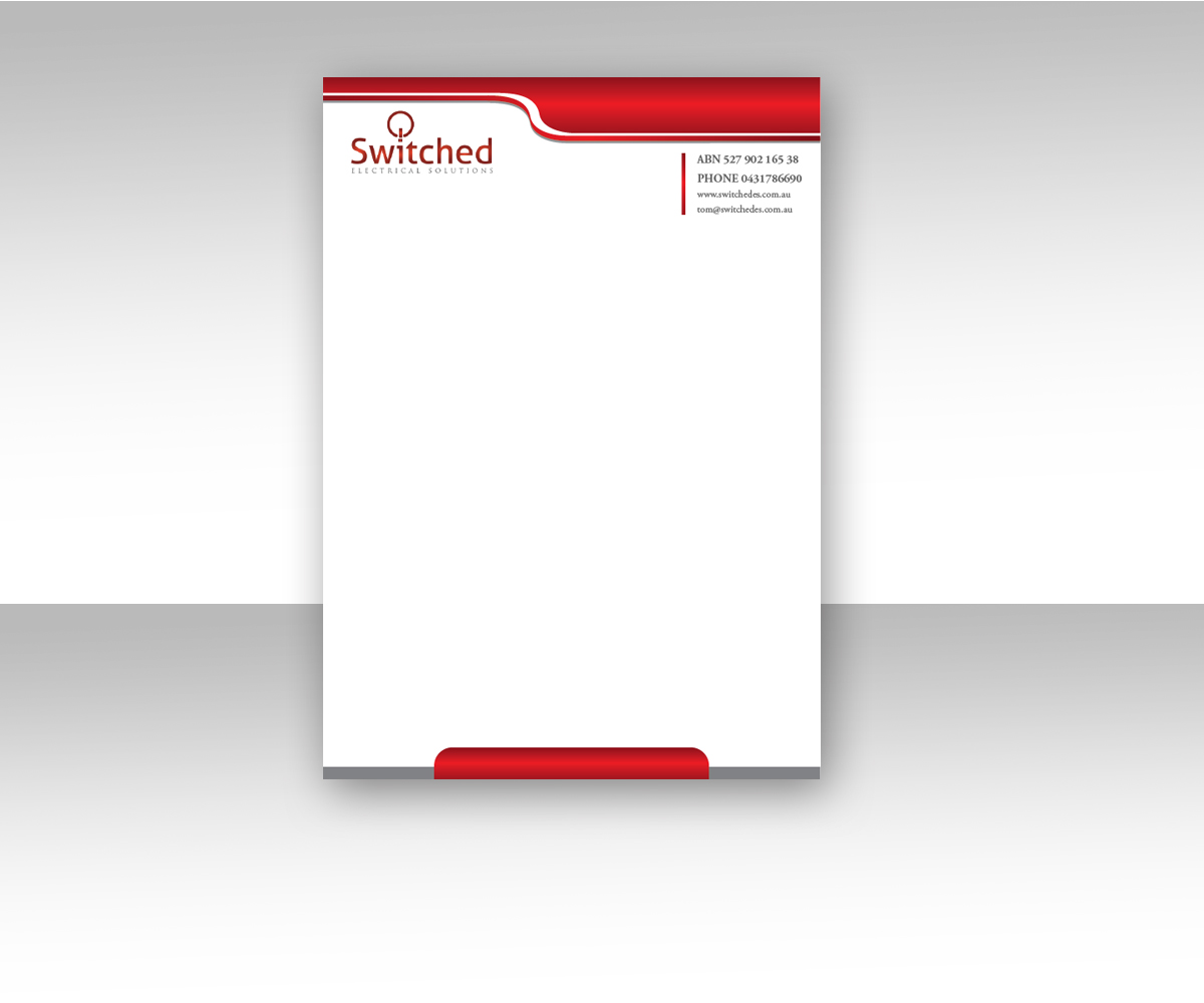 electrical letterhead design for a company by mohamed bouabsa