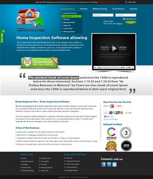 58 Masculine Web Designs   Home Inspection Web Design Project for ...