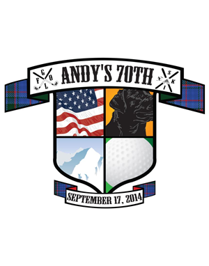 Logo Design by jordanlee2929 - Andy's 70th crest