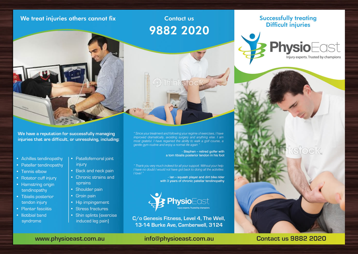 physiotherapy pamphlets samples 78 professional brochure designs clinic brochure design project