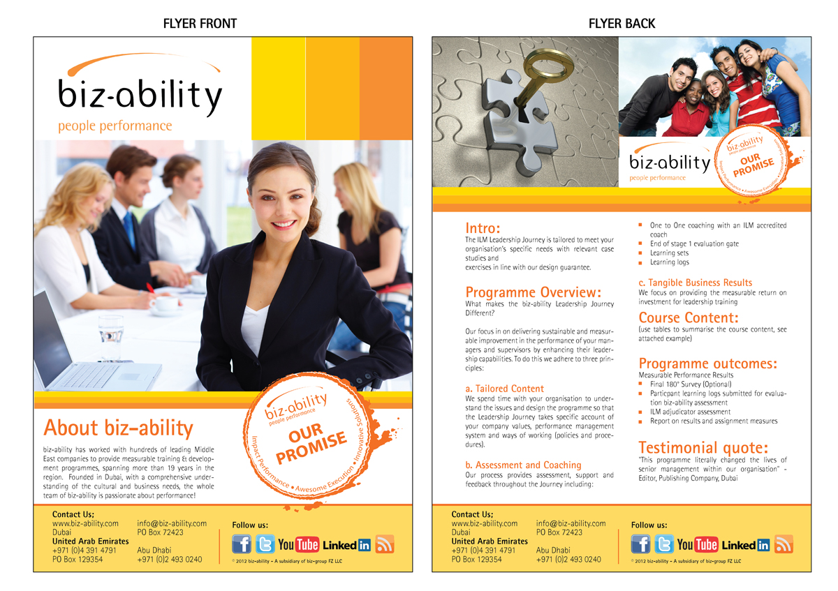 Professional Upmarket Flyer Design For Alexis Dyson By
