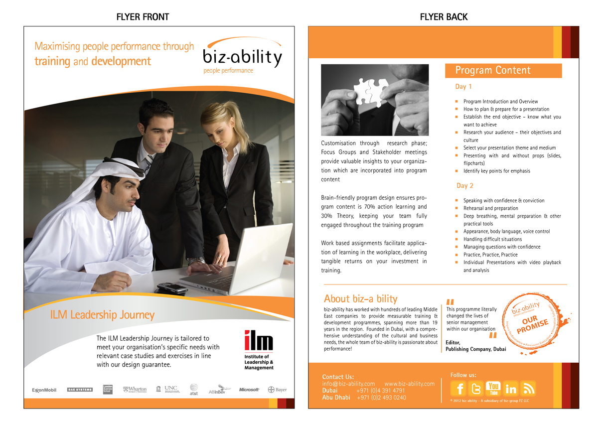 coaching brochure template - professional upmarket flyer design design for alexis
