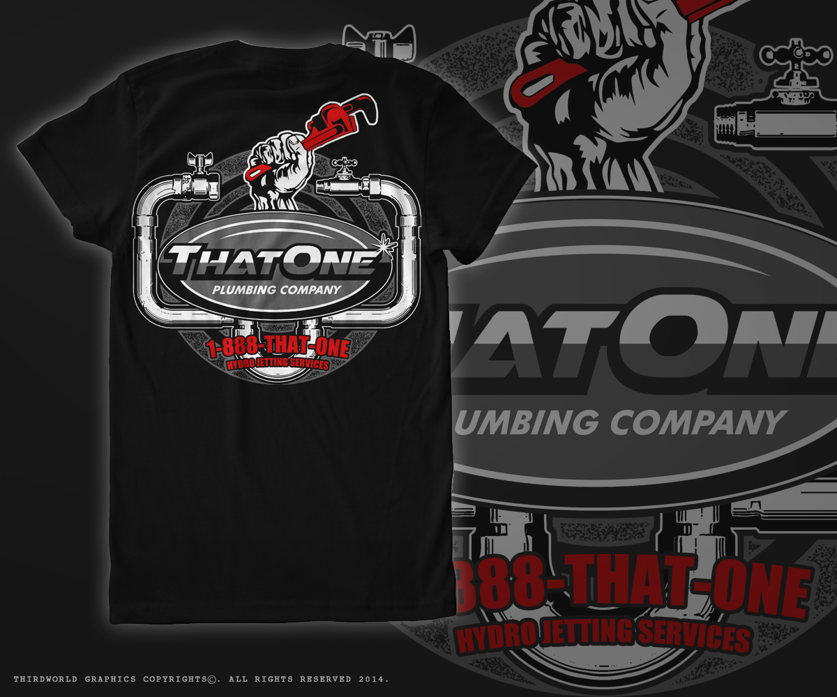 Bold Masculine Business T Shirt Design For That One Plumbing Company In United States 4427141