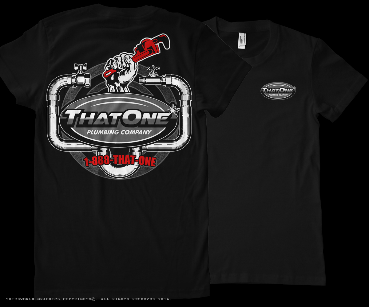 Bold Masculine Business T Shirt Design For That One Plumbing Company In United States 4596826