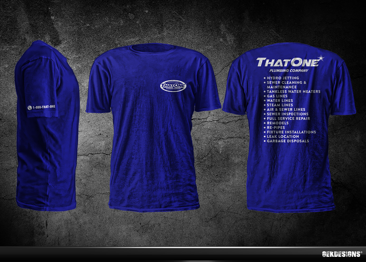 Bold Masculine Business T Shirt Design For That One Plumbing Company In United States 4307044