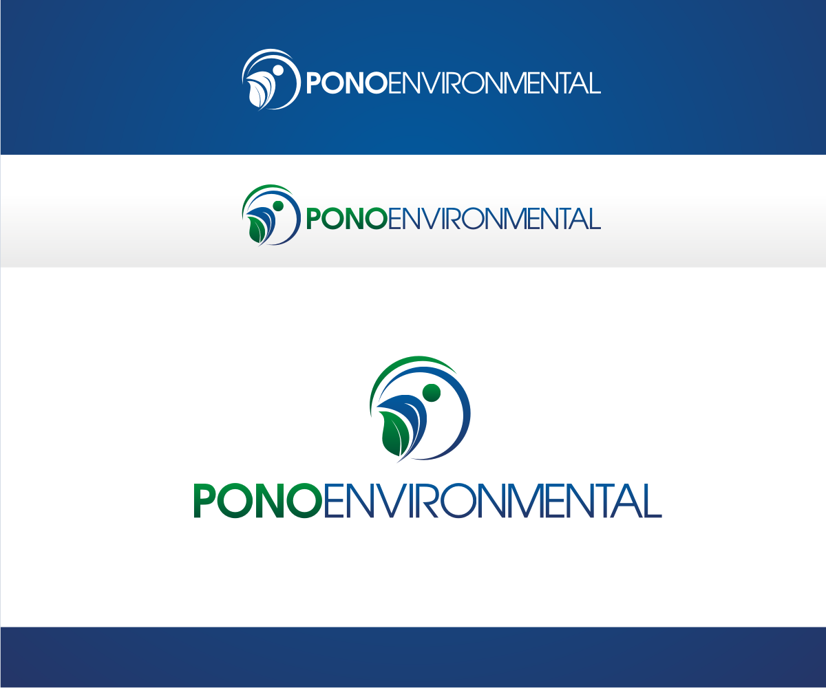 It company logo design for pono environmental by r i d for D for design