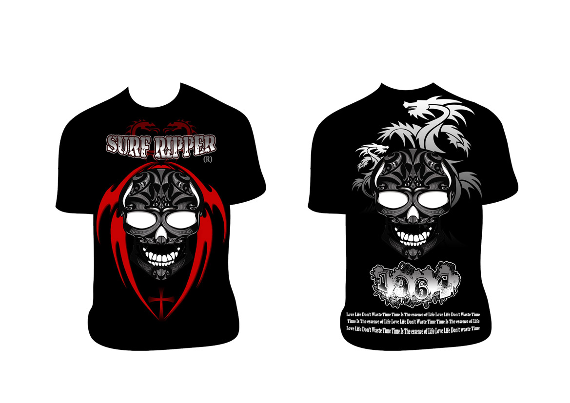 Tribal design t shirt - T Shirt Design By Ameer Fahi For Surf Ripper T Shirt Tribal