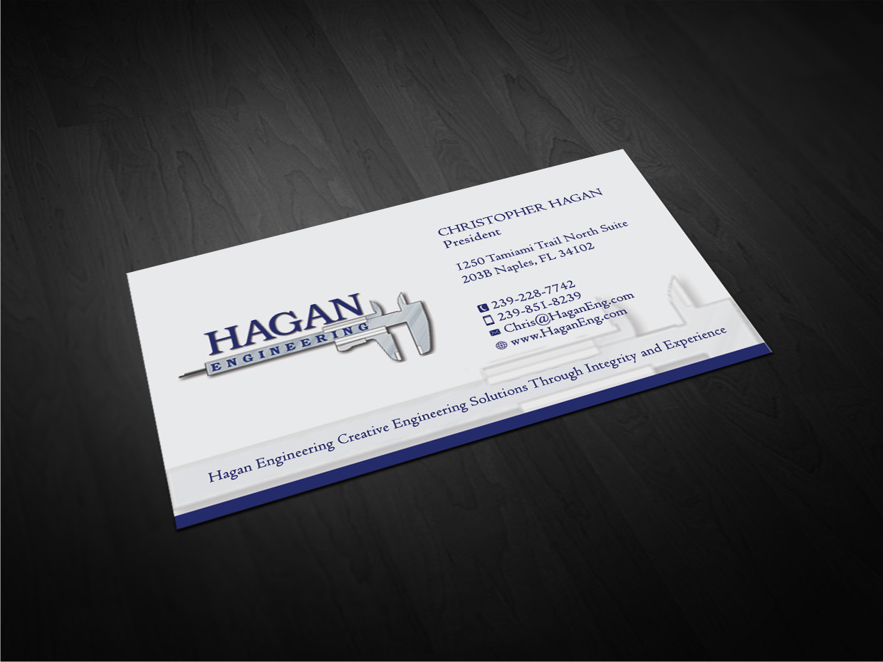Serious professional business card design for marguerite amols by business card design by gtools for civil engineering business card design design 4330277 reheart Gallery