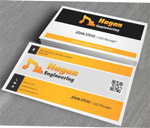 business card design by awsomed for this project design 4315080 - Engineer Business Card