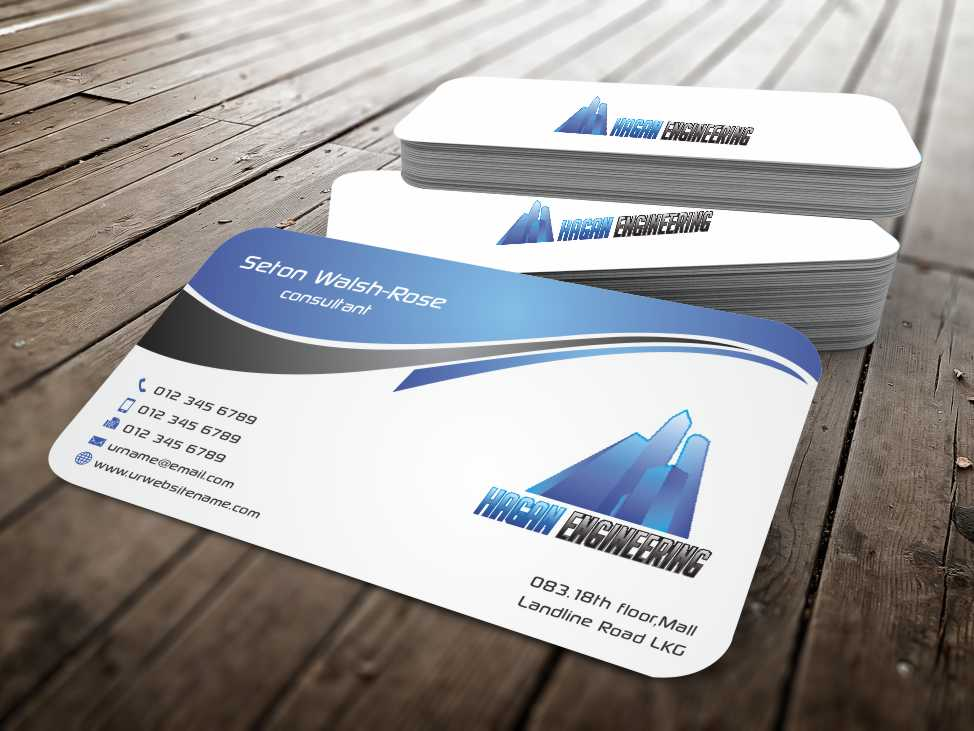 Serious professional business card design for marguerite amols by business card design by szabist for civil engineering business card design design 4315369 reheart Gallery