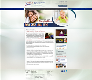 Web Design by Marqetrix Web Solutions - Optometric Practice needs Initial Photoshop Mockup