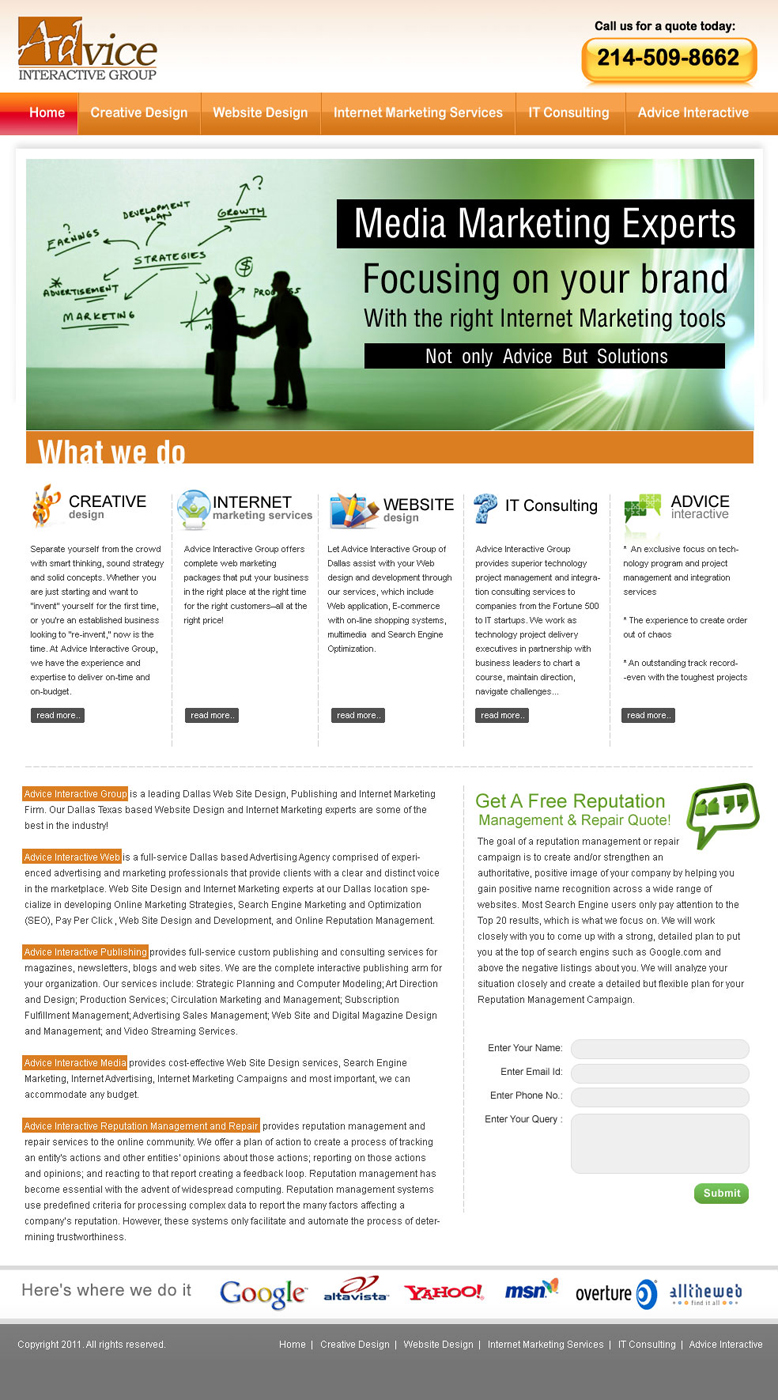 Web Design for a Company by webwinner | Design #179088