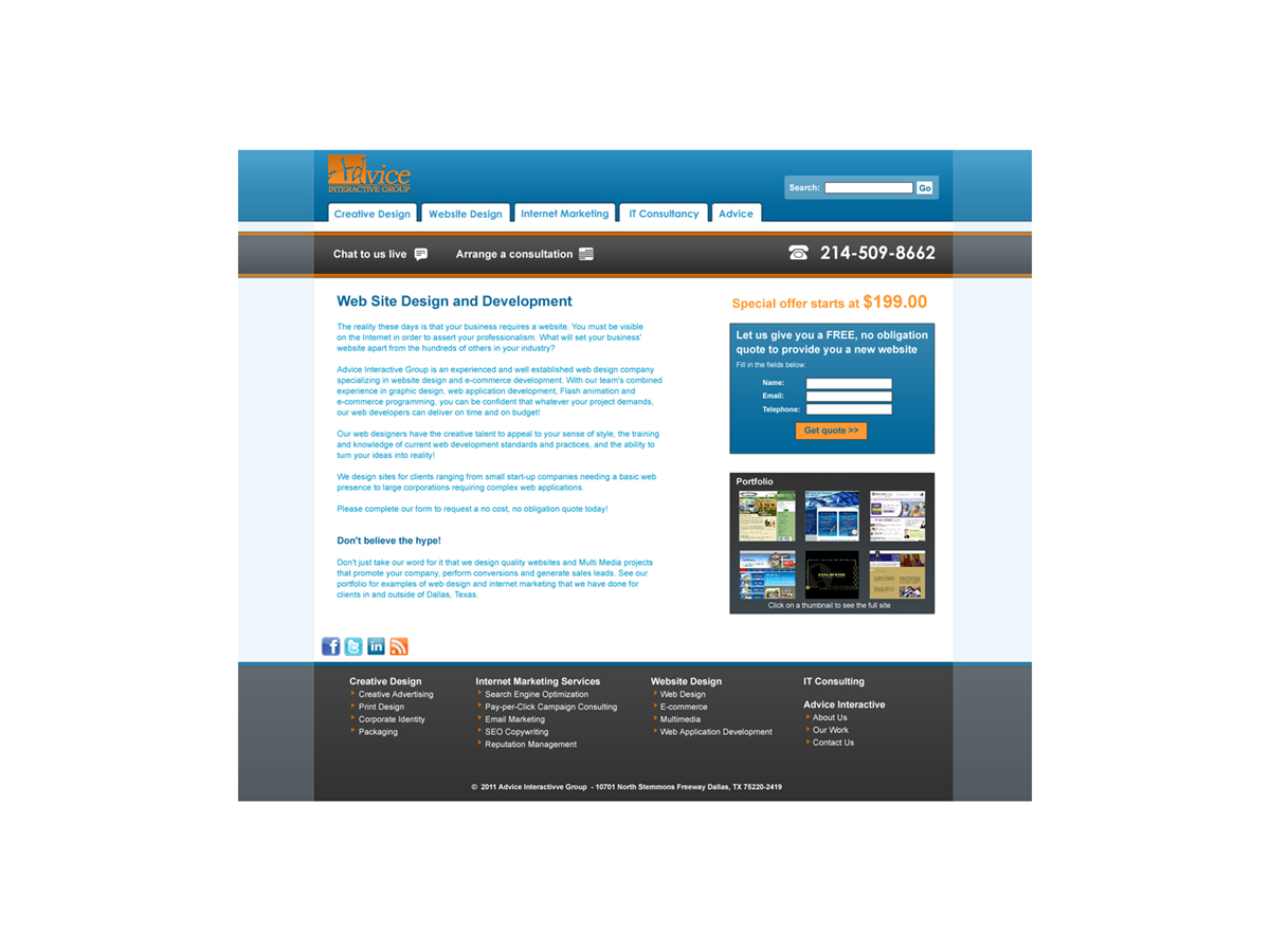 Web Design for a Company by Lawrence Clifford | Design #181795