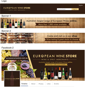 Banner Ad Design by ravi_k5 - Logo and 2 Banners for Wine Store