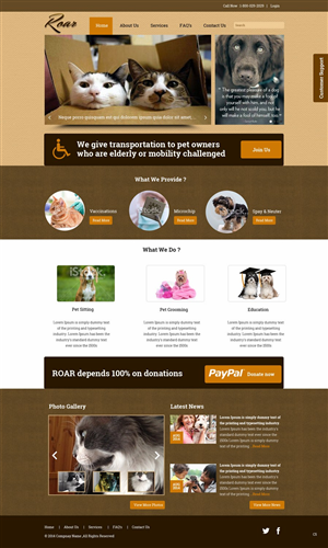 Web Design by pb - ROAR Resident Outreach for Animal Responsibility