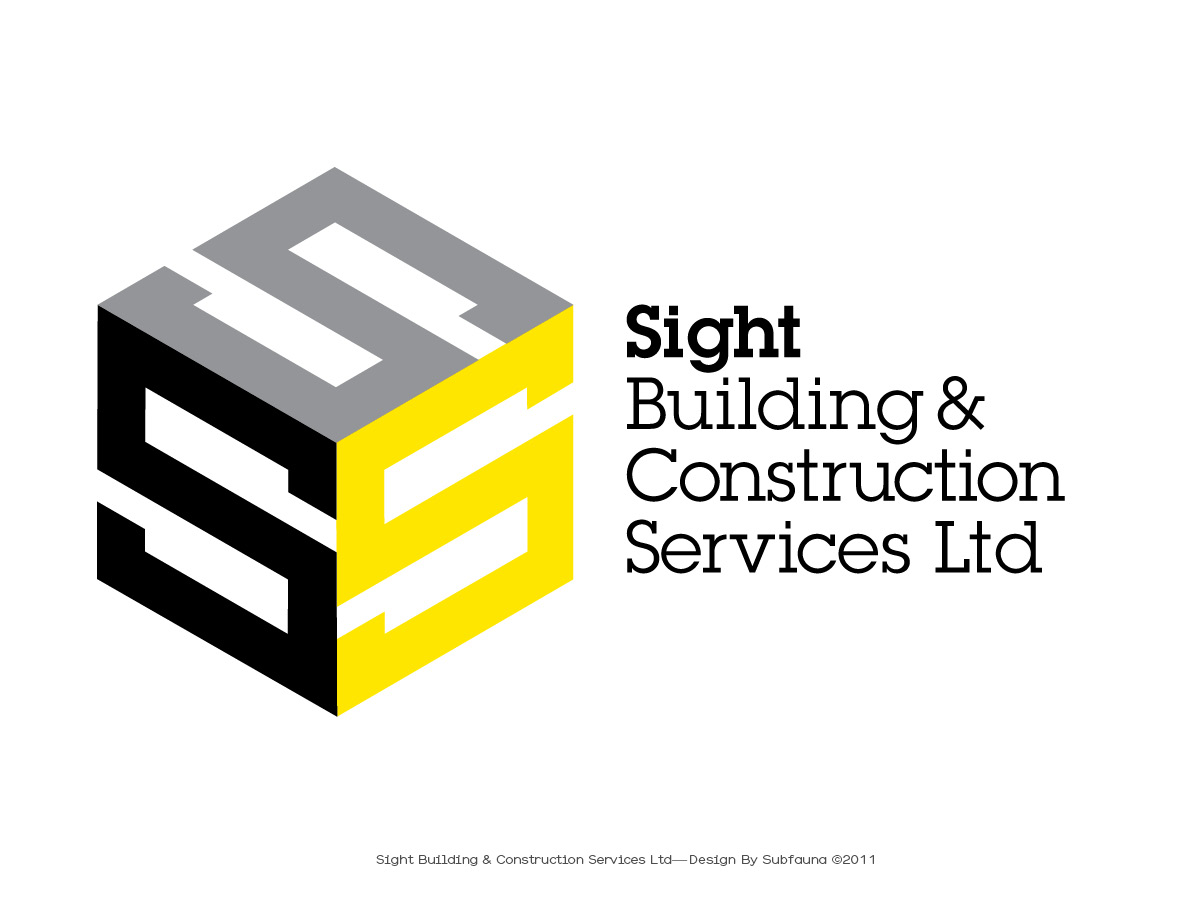 Modern masculine logo design for sight building for Building services design