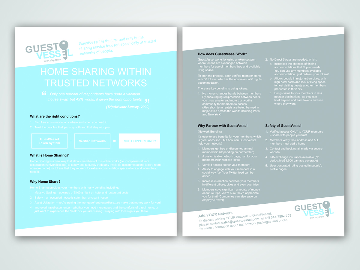 2 Page Brochure >> Serious Modern It Company Brochure Design For A Company By