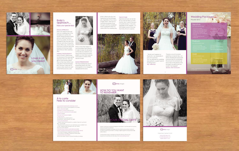 Modern Elegant Wedding Brochure Design For A Company By Elit Design Studio Design 4409138