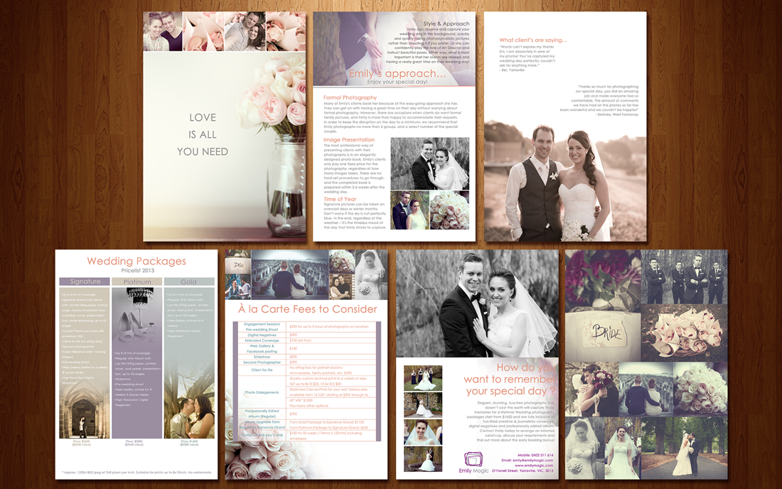 Wedding Photography Brochure Ideas: Wedding Photography Brochure On Pinterest
