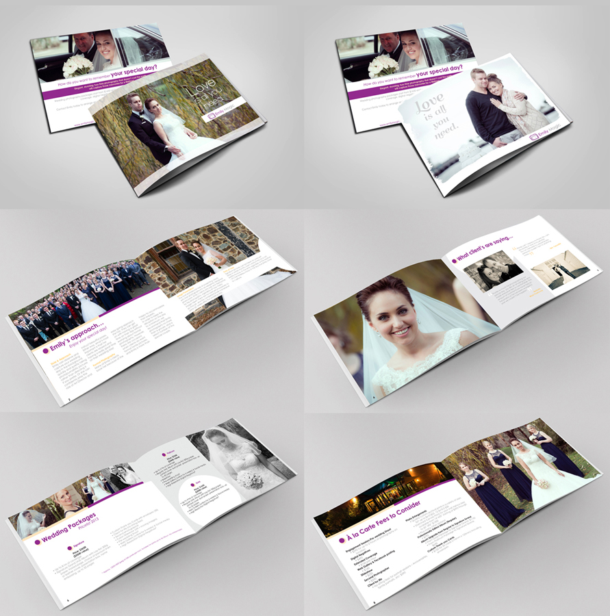 modern elegant wedding brochure design for a company by volvograph