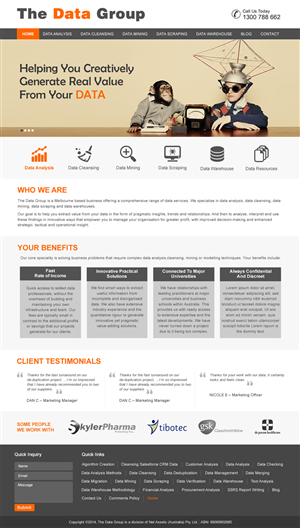 Wordpress Design by harmi_199 - The Data Group - PSD Design Only