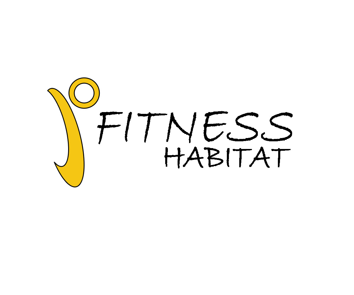 Playful feminine fitness logo design for fitness habitat for Rohan design