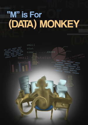 Illustration Design by idteras - Computer-using Monkey