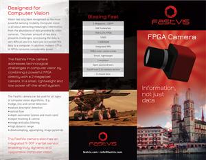 Brochure Design by laxman2creative - A4 Tri-fold brochure for FastVis FPGA Camera