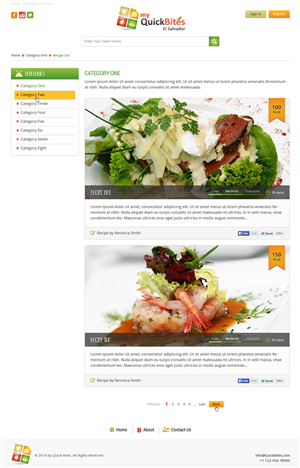 Web Design by Deep - Website Layout for QuickBites