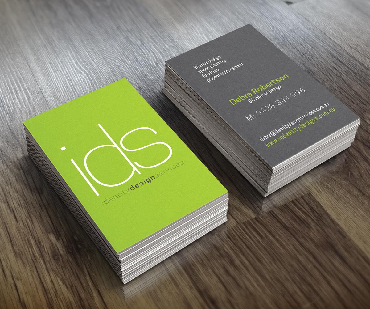 modern conservative business card design for debra
