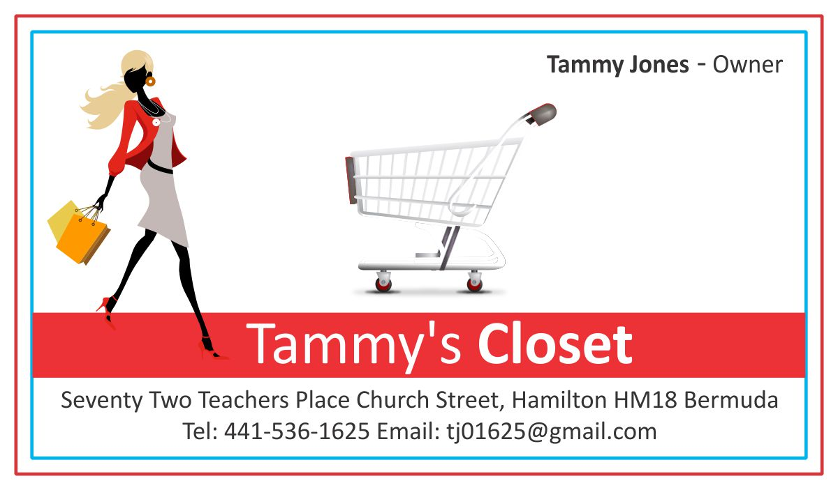 Images of ladies tailor visiting card spacehero masculine bold business card design for tammy jones by reheart Gallery