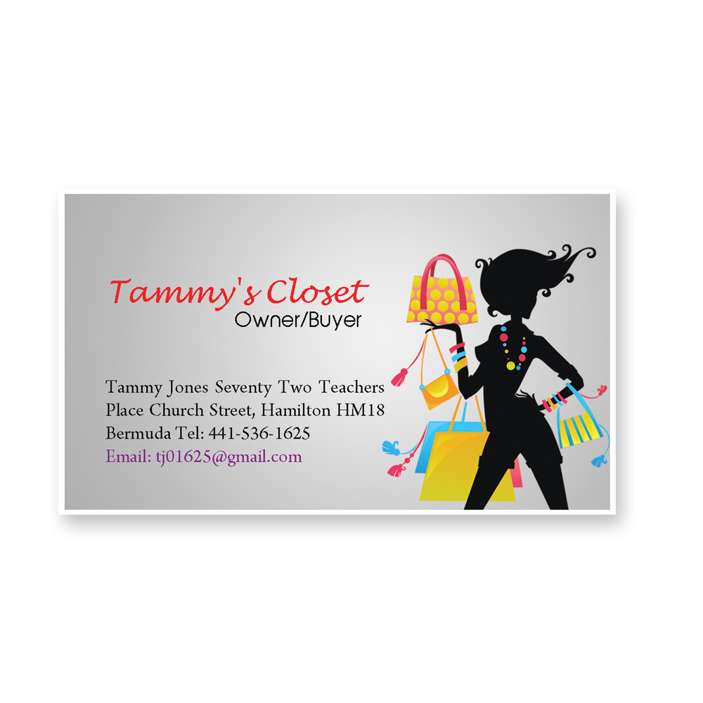 Masculine, Bold Business Card Design for Tammy Jones by Navitha ...