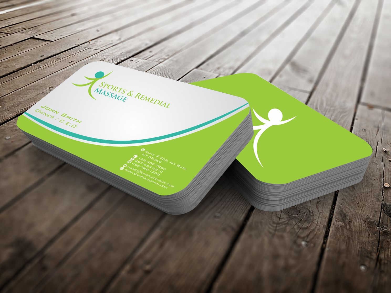 Massage Business Card Design for a Company by szabist | Design #4343680