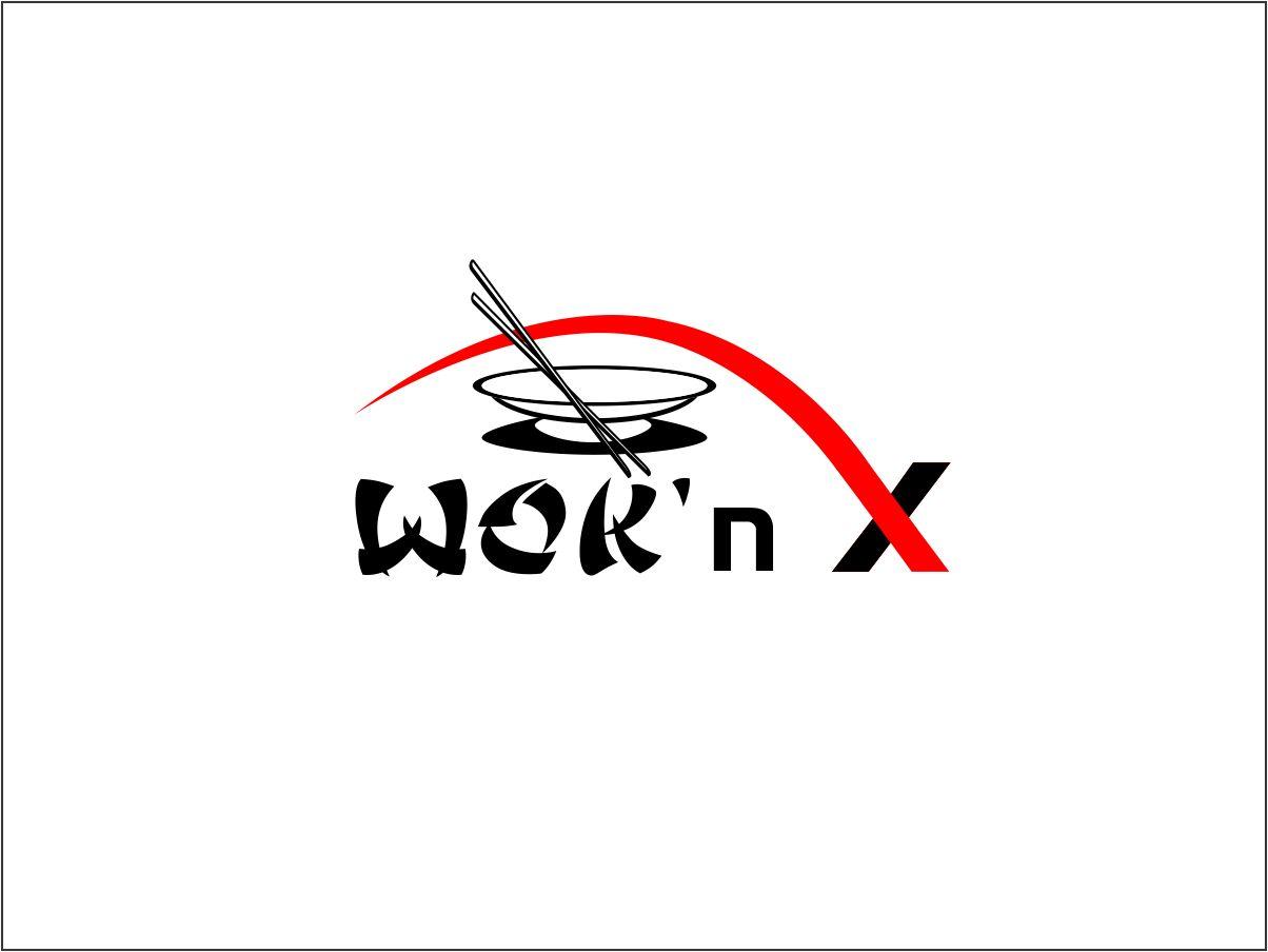 Logo design by malar m for chinese restaurant logo design - woku0026#39;n x ...