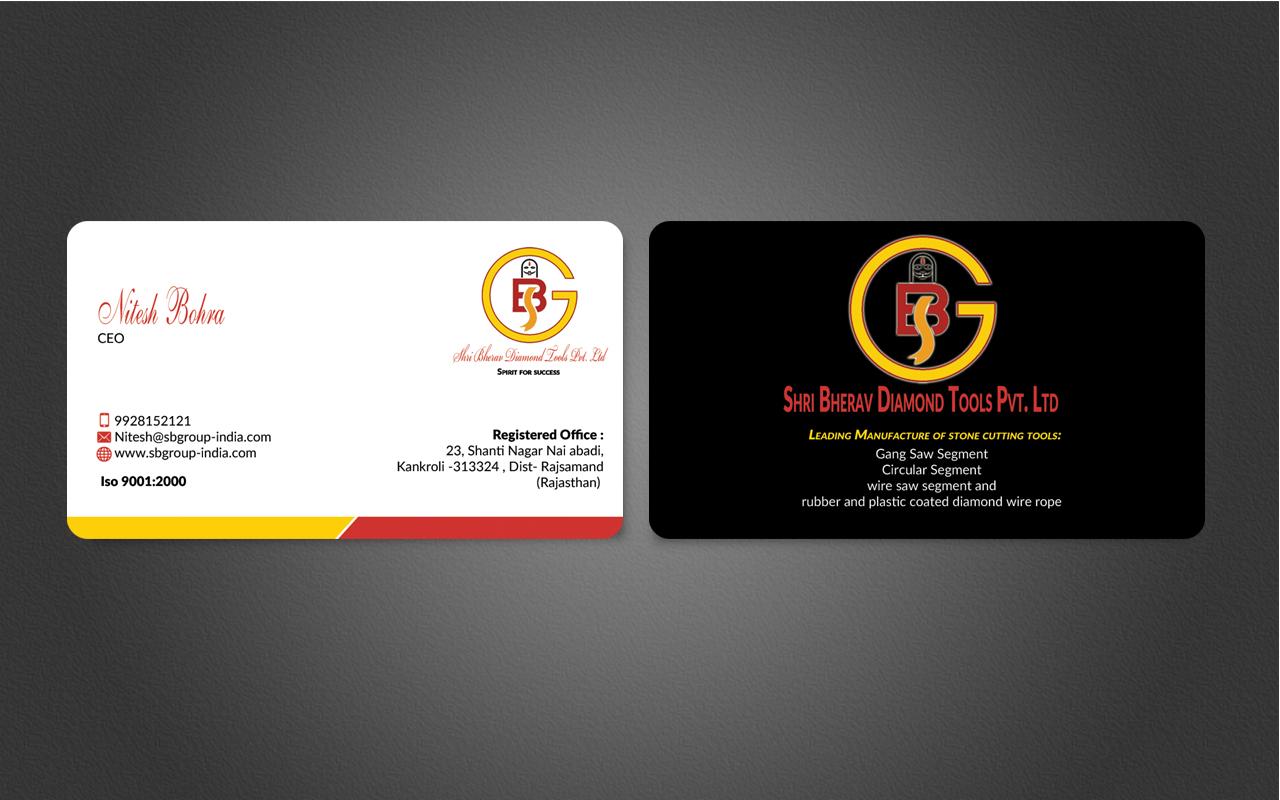 Elegant, Modern Business Card Design for Nitesh by nuhanenterprise ...