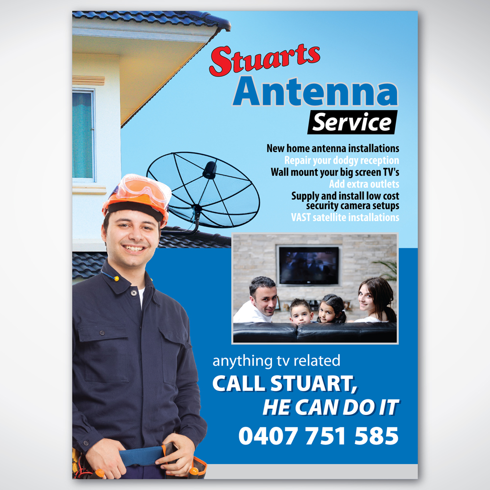 Poster design size - Poster Design By Tuan1968 For Advertising Poster For A Small Antenna Business A3 In Size