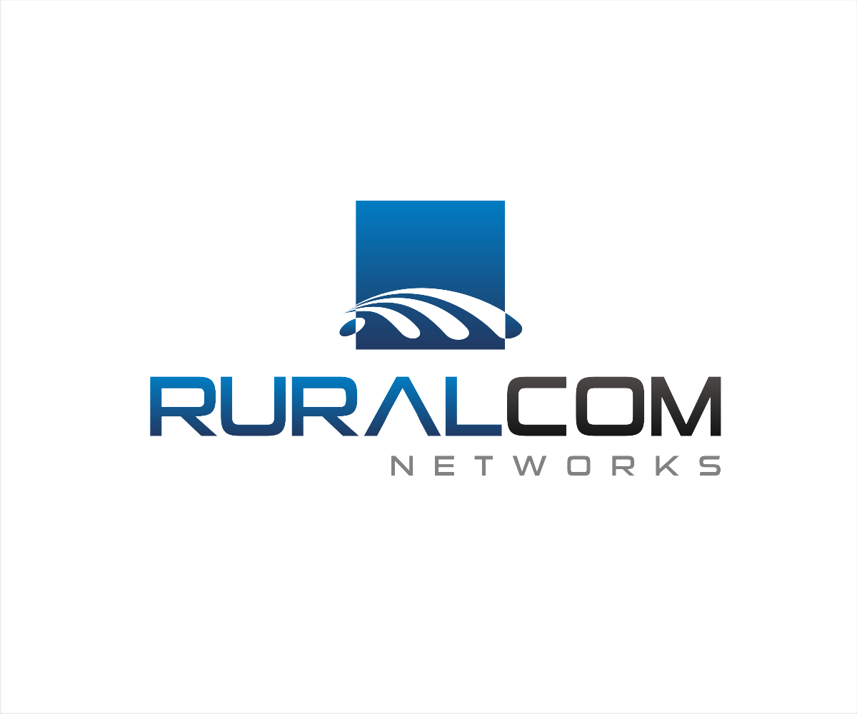 Modern bold internet logo design for ruralcom networks for D for design