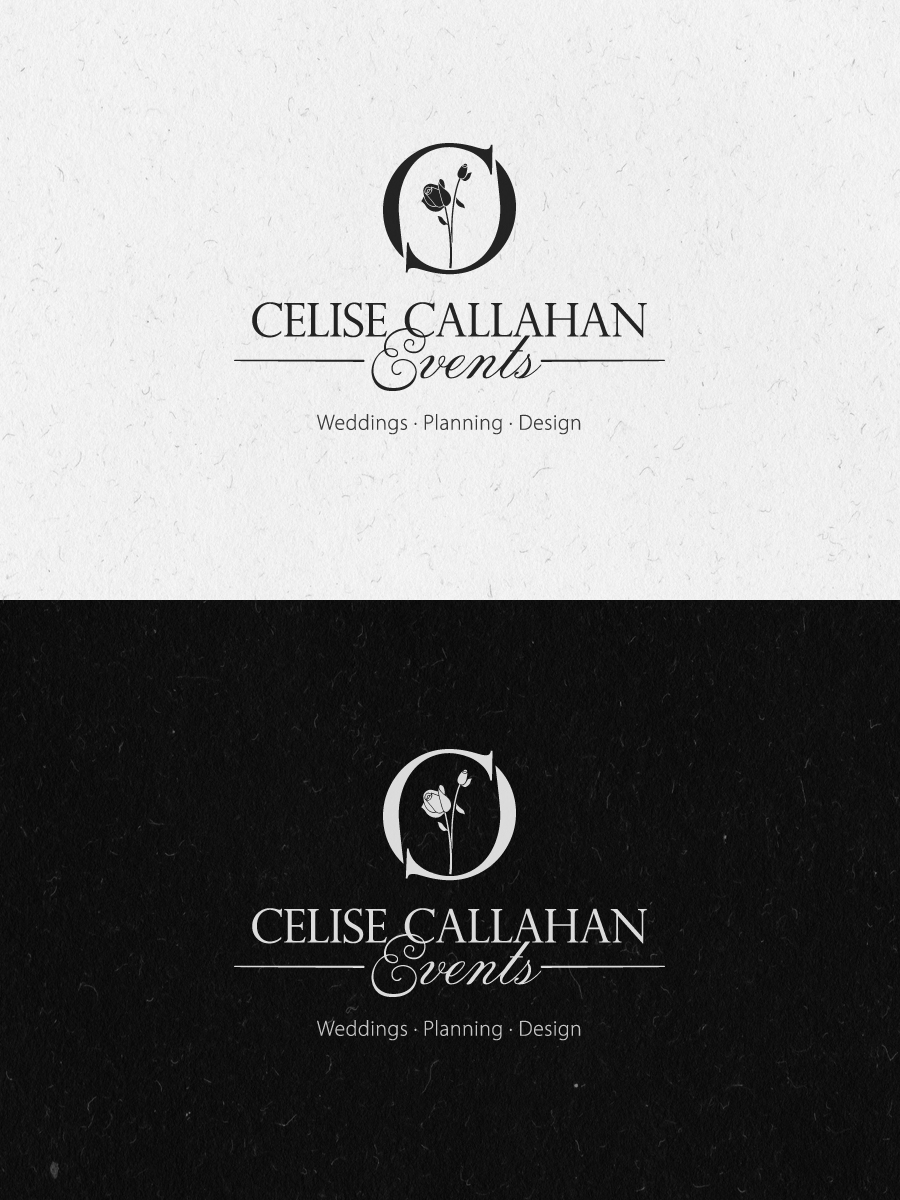 modern elegant logo design for celise callahan by